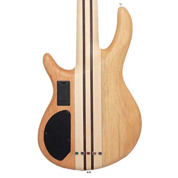 Cort Artisan A5 Plus FMMH Open Pore Natural Bass Guitar back