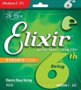 Elixir  NANOWEB MEDIUM 6th STRING FOR BASS GUITAR