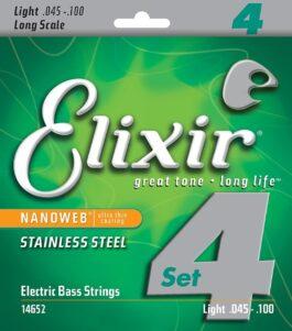 Elixir NANOWEB LIGHT LONG SCALE 45-100 4-STRING BASS STRINGS