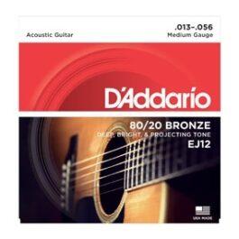 D'Addario EJ12 80/20 Bronze Acoustic Guitar Strings (13-56)