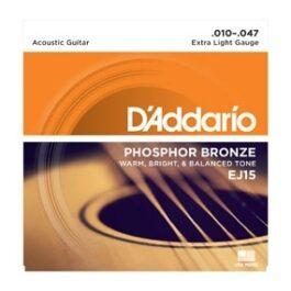 D'Addario EJ15 Phospor Bronze Acoustic Guitar Strings (10-47)