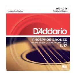 D'Addario EJ17 Phosphor Bronze Acoustic Guitar Strings (13-56)