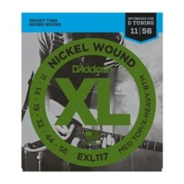 D'Addario EXL117 NICKLE WOUND MEDIUM TOP / EXTRA HEAVY BOTTOM ELECTRIC GUITAR STRINGS