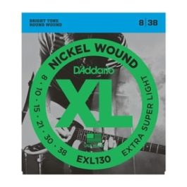 D'Addario EXL130 NICKLE WOUND EXTRA LIGHT ELECTRIC GUITAR STRINGS