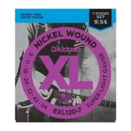 D'Addario EXL120-7 NICKLE WOUND 7 STRING GUITAR STRINGS