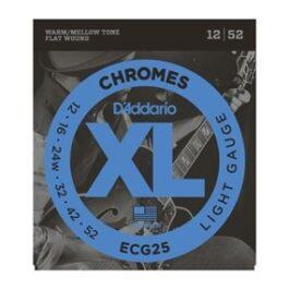 D'Addario ECG25 CHROMES FLAT WOUND ELECTRIC GUITAR STRINGS