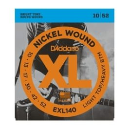 D'Addario EXL140 NICKLE WOUND HEAVY BOTTOM LIGHT TOP ELECTRIC GUITAR STRINGS