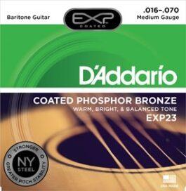 D'Addario EXP23 COATED PHOSPHOR BRONZE BARITONE GUITAR STRINGS