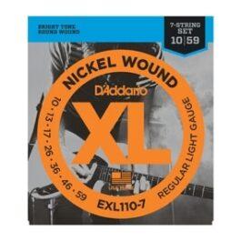 D'Addario EXL110-7 NICKLE WOUND 7 STRING GUITAR STRINGS