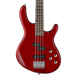 CORT ACTION BASS PLUS TRANSPARENT RED ACTIVE PICKUPS ELECTRIC BASS GUITAR