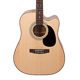 Cort AD880CE Dreadnaught Acoustic-Electric Guitar – Natural Satin