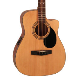 Cort AF515CE Acoustic Guitar – Open Pore Natural