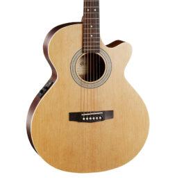 Cort SFX-ME Acoustic-Electric Guitar – Open Pore Natural