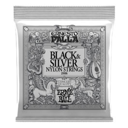 Ernie Ball Ernesto Palla Nylon Guitar Strings – Black & Silver