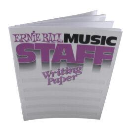 Ernie ball MUSIC STAFF WRITING PAPER BOOK