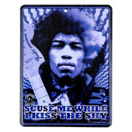 Fender JIMI Hendrix Kiss the Sky Design Tin Sign art work