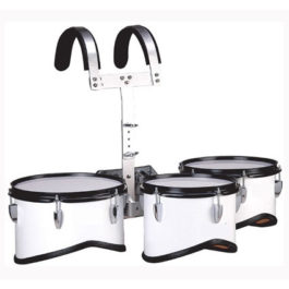 BERGEN 10″ 12″ 13″ MARCHING TOM DRUM WITH CARRIER & STICKS