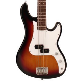 Cort GP54P 4-String Bass Guitar with P-Bass Pickups – Two-Tone Sunburst