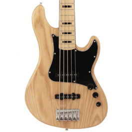 Cort GB55JJ 5-String Bass Guitar with Jazz Pickups – Natural Finish