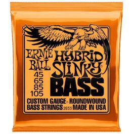 Ernie Ball REGULAR SLINKY NICKEL WOUND SHORT SCALE BASS STRINGS – 45-105 Gauge