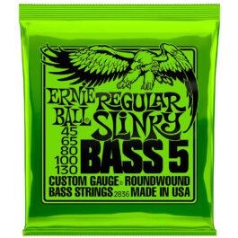 Ernie Ball STRINGS BASS REGULAR SLINKY  5-STRING ROUNDWOUND 45 – 130