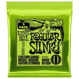 Ernie Ball Regular Slinky Electric Guitar Strings – 3-pack