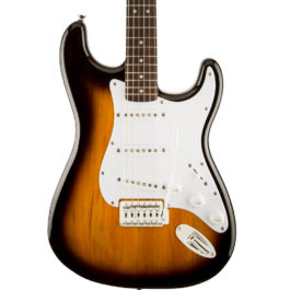 Squier BULLET  STRAT ELECTRIC GUITAR WITH TREMOLO BROWN SUNBURST