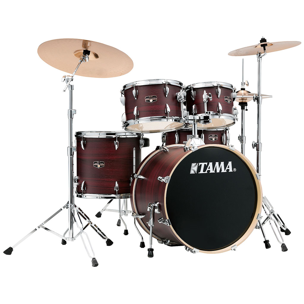 tama imperialstar 5 piece drum kit burgundy walnut with meinl cymbals paul bothner music. Black Bedroom Furniture Sets. Home Design Ideas
