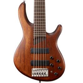 Cort B6 PLUS 6-String Bass Guitar – Open Pore Mahogany