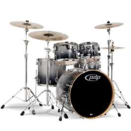 PDP Concept Maple 5-Piece Shell Pack Drum Kit – Silver To Black Sparkle Fade