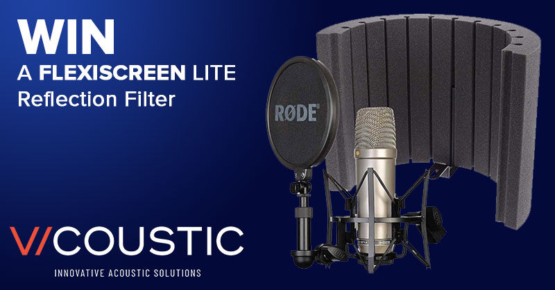 Win a Vicoustic Microphone Reflection Screen