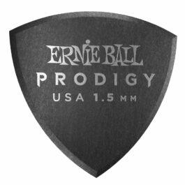 Ernie Ball Prodigy Guitar Pick – 1.5mm – Black – Large Shield Shape (each)