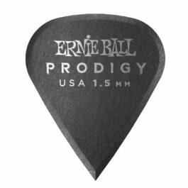 Ernie Ball Prodigy Guitar Pick – 1.5mm – Black Sharp Shape (each)