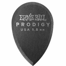 Ernie Ball Prodigy Guitar Pick – 1.5mm – Black Teardrop Shape (each)