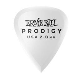 Ernie Ball Prodigy Guitar Pick – 2.0mm – White Standard Shape (each)
