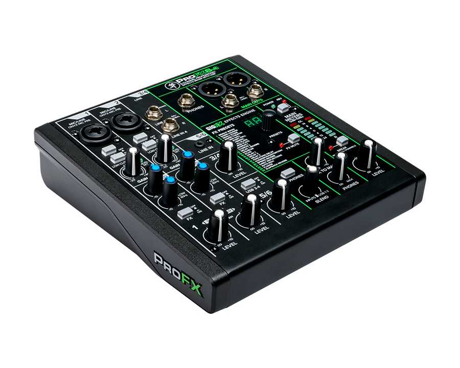 ProFX6v3 Mixer with Effects