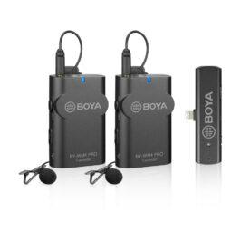 BOYA BY-WM4 PRO-K4 2.4 GHz Wireless Microphone System for iOS Devices