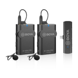 BOYA BY-WM4 PRO-K6 2.4 GHz Wireless Microphone System for Android and Other USB-C Devices