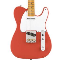 Fender Vintera 50s Telecaster® – Maple Fretboard – Fiesta Red