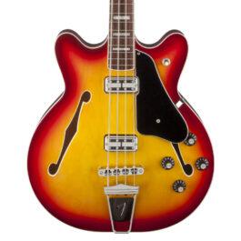 Fender Coronado 4-String Bass Guitar – Rosewood Fretboard – Aged Cherry Burst