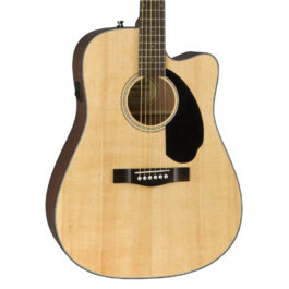Fender CD-60SCE Natural – Solid Top Dreadnought – Cutaway – Acoustic/Electric