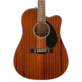 Fender CD-60SCE Mahogany Acoustic-Electric Guitar – Natural
