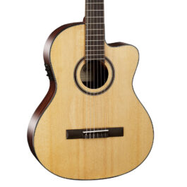 Cort AC160CFTL – Thin Body Classical/Electric with Cutaway – Natural – with Bag