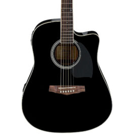 Ibanez PF15ECEBK – Acoustic/Electric guitar – Black