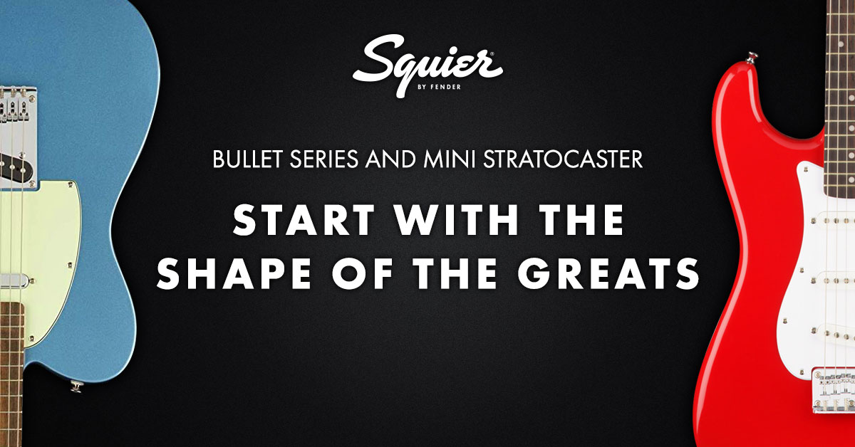 Start with the shape of the greats – Squier by Fender