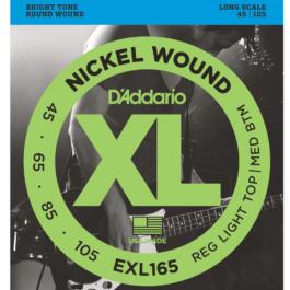 D'Addario EXL165 Long Scale Bass Guitar Strings (45-105)