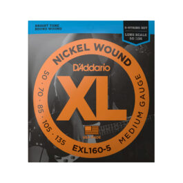 D'Addario EXL160-5 Long Scale 5-String Bass Guitar Strings (50-135)