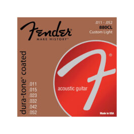 FENDER 880CL 80/20 Dura-Tone Coated Acoustic Strings – .11-.52