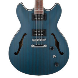 Ibanez AS53 Artcore Semi-Hollow Electric Guitar – Transparent Blue Flat