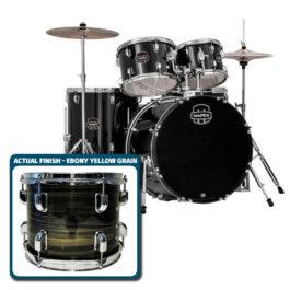 Mapex PDG5254TCFJ Prodigy 5pc Standard Drum Kit Ebony Yellow Grain Finish